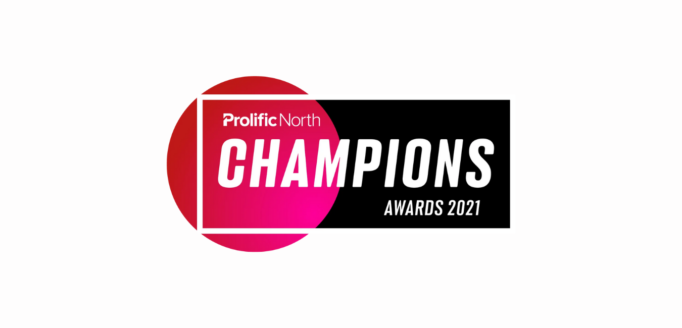 Logo design of Prolific North Champions Awards 2017 in Red and Black with white writing